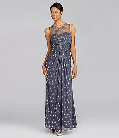 Adrianna Papell FoilDot Illusion Gown #Dillards