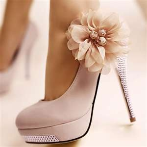 adorable.Pink Flowers, Wedding Shoes, So Cute, Highheels, Pink Heels, Bridesmaid Shoes, Weddingshoes, Pink Shoes, High Heels