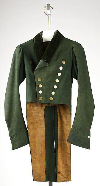 Coat, 1810, European, Made of wool and metal