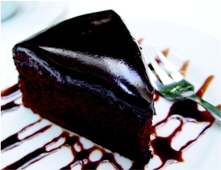 Satisfy your sweet tooth with our Classic Chocolate Cake! Dark chocolate cake with dripping chocolate sauce!