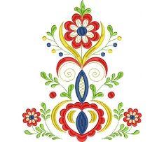 Výšivka Vajnory - kožuch stred, 4 farby, 20 x 24 cm