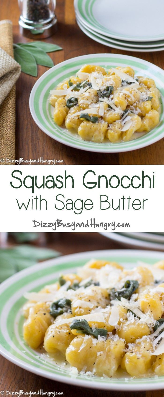 Squash Gnocchi with Sage Butter #WeekdaySupper - Hearty yet tender ...