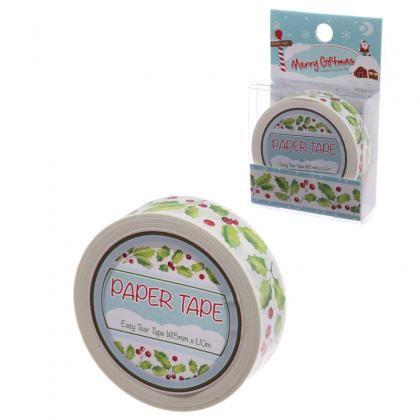 Ozdobná vánoční lepící páska Cesmína, 10m #tape #christmas #craft #giftware