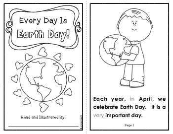 Every Day Is Earth Day!  {An Informational Text for Primary Readers}  Learn facts, read and trace sight words, and understand key vocabulary this Earth Day.  Student booklet includes 11 pages ready to read and color.  Text is informational and persuasive.  $