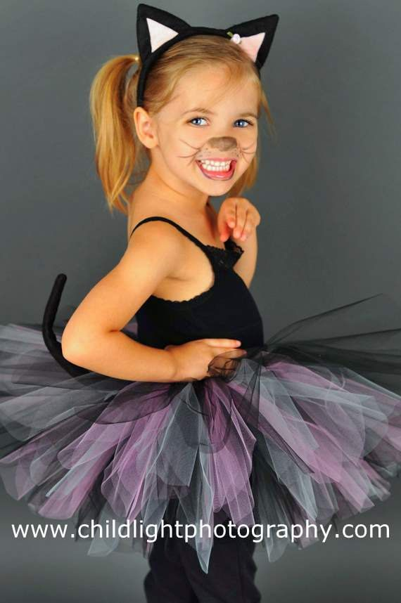 Cat Costume Halloween Toddler girls Tutu set Black by DanburyLane