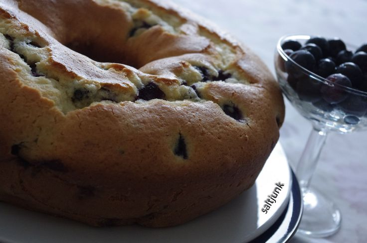 Newfoundland Recipes-Blueberry Cake 1 w-saltjunk.com