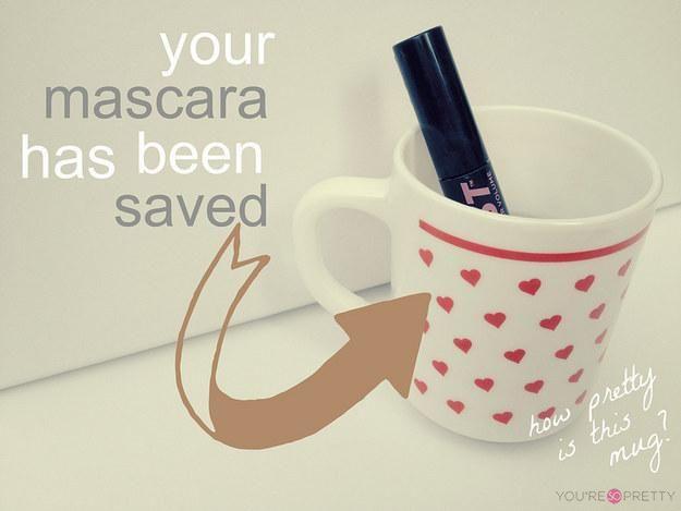 how to save a dried mascara
