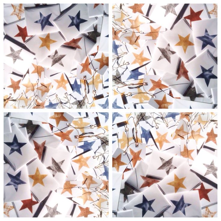 'Starlight, star-bright' A Metallicus Christmas in copper, gold, oxidised silver + 'blue denim'  + 'brass' ➕one industrial Christmas cards individually hand-painted stars onto recycled white card using eco-friendly water based metallic paints. Claire Webber, Hobart, Tasmania