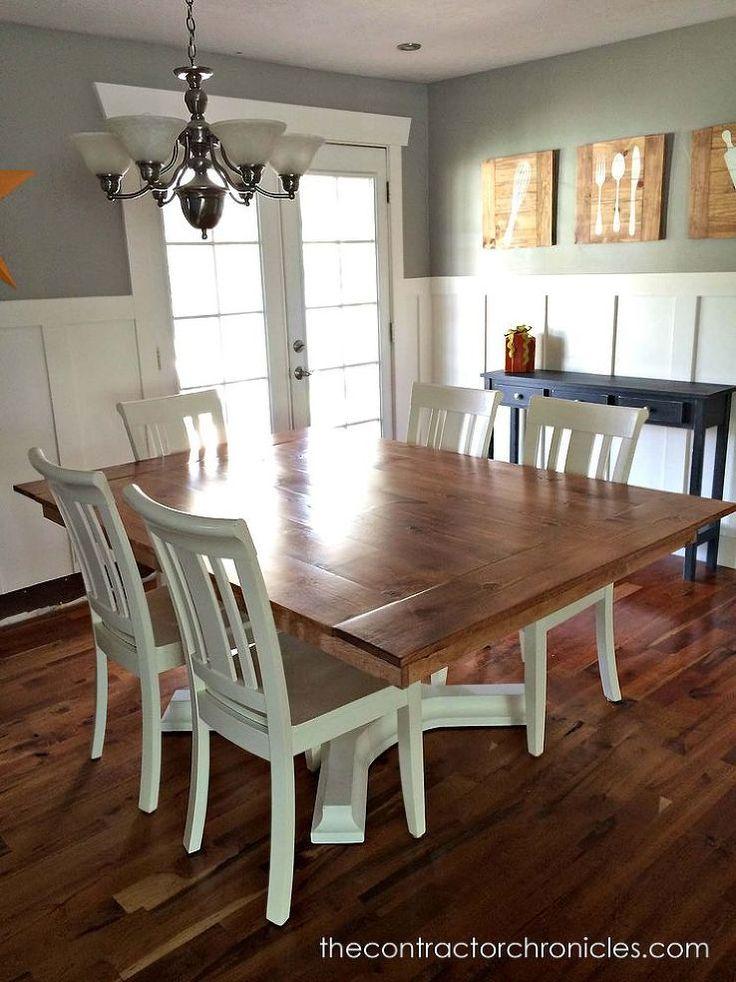 Cherry and White Farmhouse Table Revamp :: Hometalk