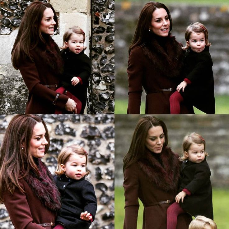 Kate takes Charlotte to church on Christmas Day.