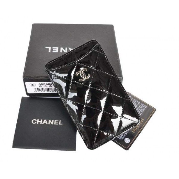 Chanel Iphone 4S Case Patent Leather A65060 Black $220