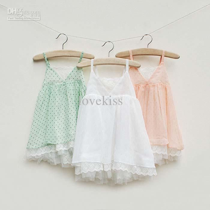 Wholesale Suspender Dress Children Clothing Girls Cute Lace Dresses Kids Clothes Baby Summer Dress Chiffon Dresses Fashion Polka Dot Princess Dress, Free shipping, $13.22/Piece | DHgate