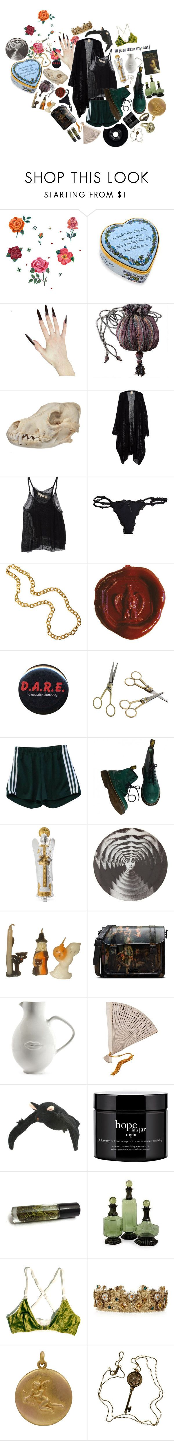 """""""Coward for You"""" by anna-pensky ❤ liked on Polyvore featuring DOMESTIC, Halcyon Days, Inhabit, Wet Seal, Ultimate, Dot & Bo, Dr. Martens, Lladró, Fornasetti and Jonathan Adler"""