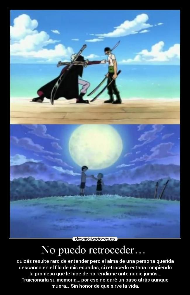 Zorro Ronoa / One Piece - frases