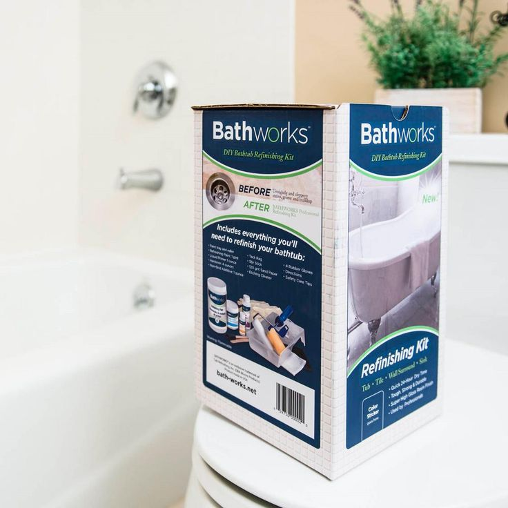 Bathworks 20 oz diy bathtub refinishing kit bonebwk03