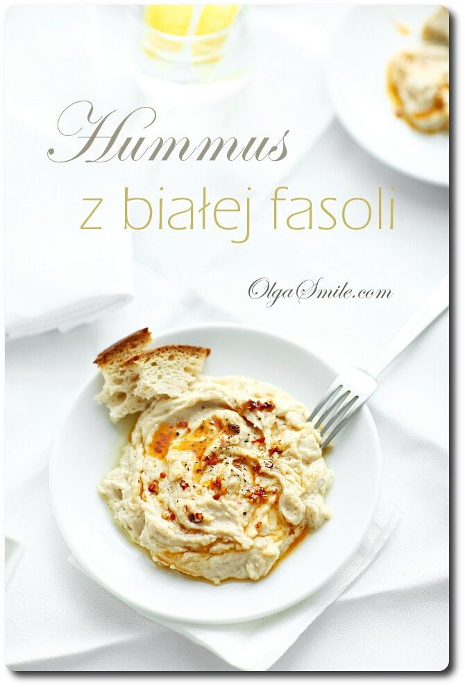 Hummus z fasoli - przepis Olgi Smile
