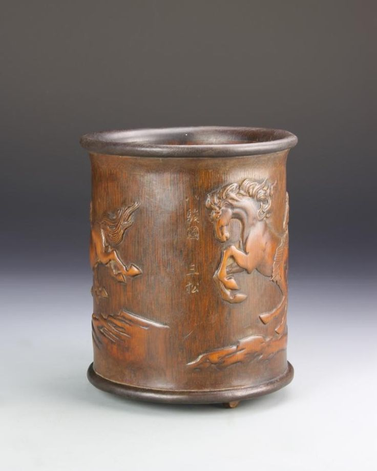 Buy online, view images and see past prices for Chinese Bamboo Brush Pot. Invaluable is the world's largest marketplace for art, antiques, and collectibles.