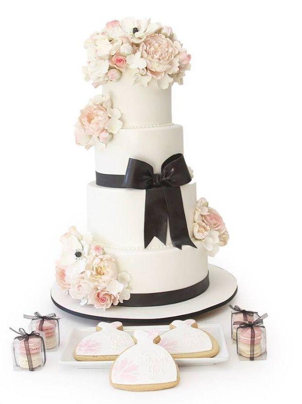 Pink Cake Box Wedding Cakes