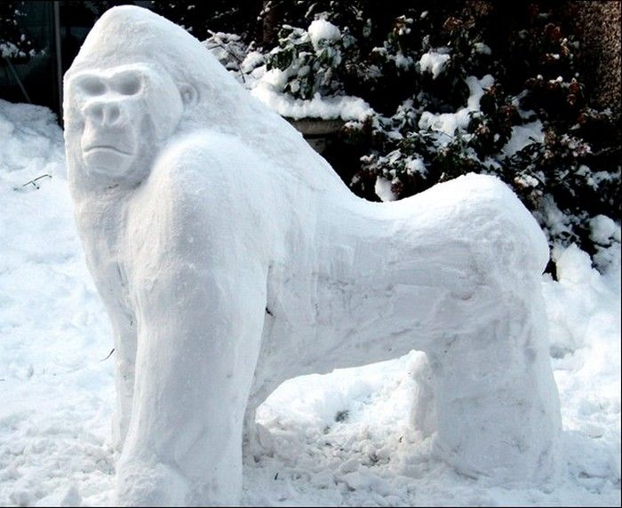 animal snow sculptures - photo #14
