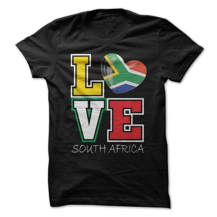 Love South Africa Flag T-Shirt T Shirts, Hoodies. Check price ==► https://www.sunfrog.com/LifeStyle/Love-South-Africa-Flag-T-Shirt.html?41382 $19
