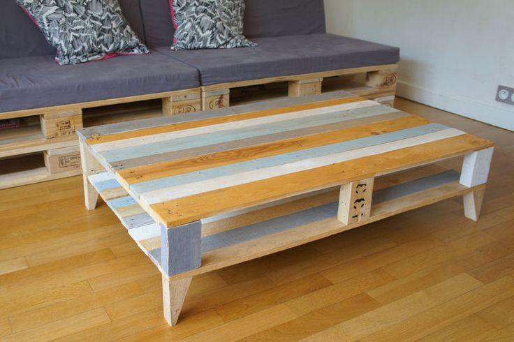 Une table basse en palette des tables basses faciles - Fabriquer une table basse en bois ...