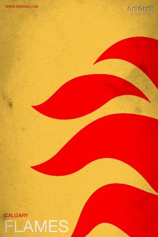 calgary flames minimalist.