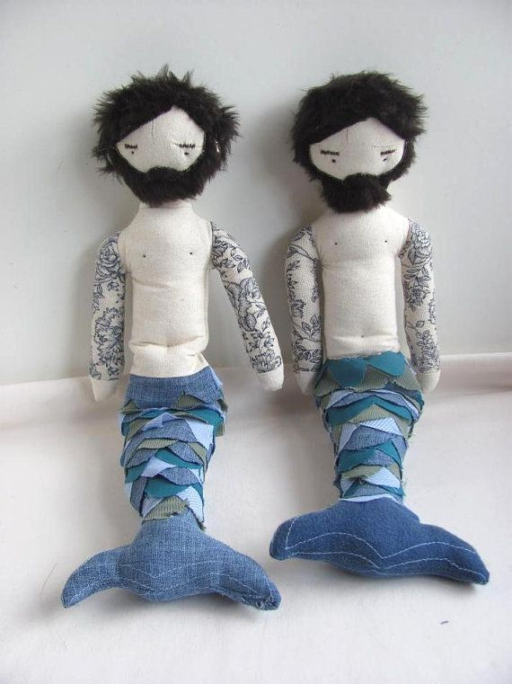 : Merman Doll, Stuff, Awesome, Mermaids, Bearded Merman, Mermen Dolls, Tattooed Merman, Bearded Mermen