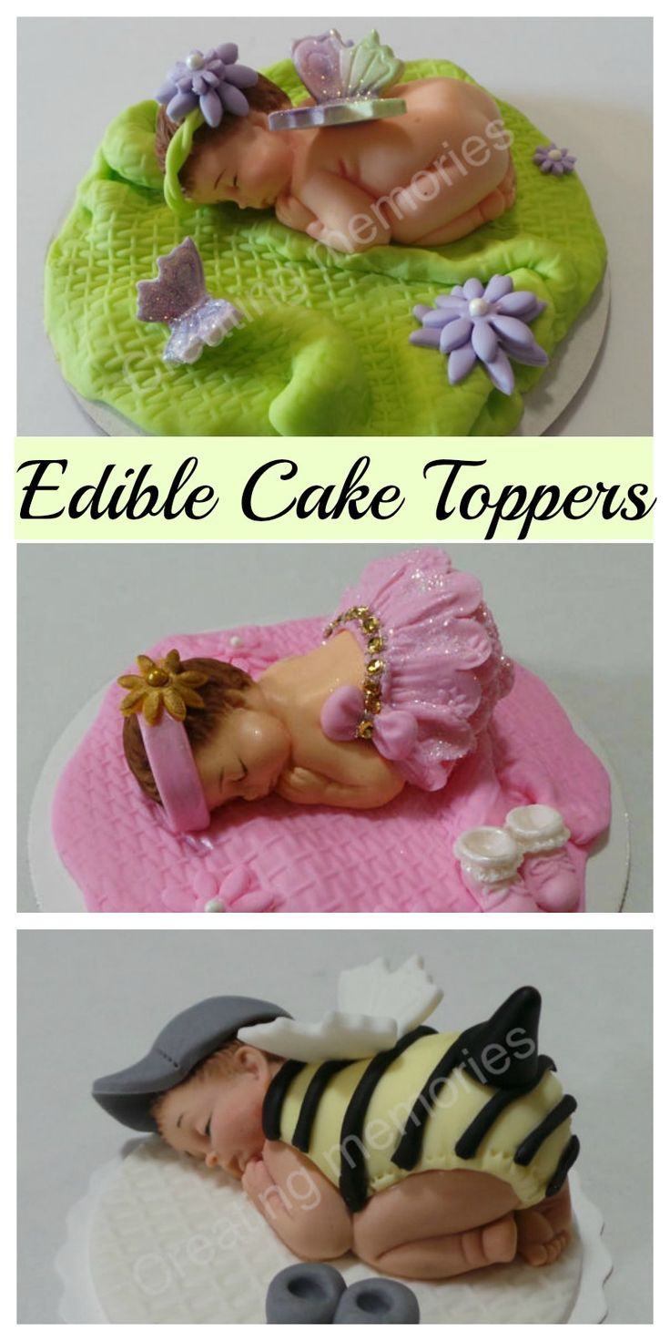 Gorgeous! Edible cake toppers perfect for a baby shower / gender reveal lots to choose from #ad #Etsy #ediblecaketoppers #cake #babyshower #genderreveal #cakedecorating