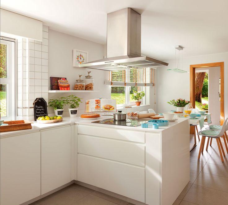 M s de 20 ideas incre bles sobre peque as cocinas blancas for Cocinas blancas pequenas