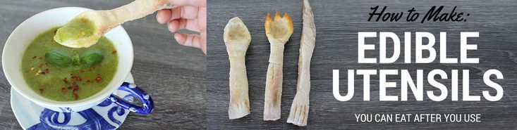 How to make edible utensils that you can eat after you use (VIDEO)