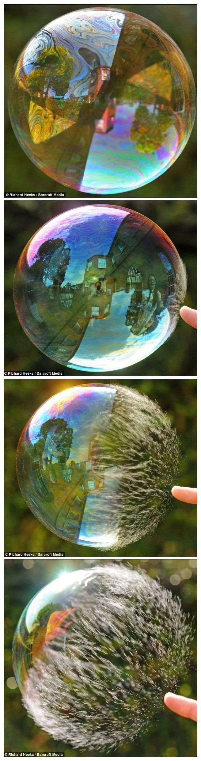 bubble popping sequence: http://www.dailymail.co.uk/sciencetech/article-1199149/Super-slow-motion-pictures-soap-bubble-bursting-stunning-detail.html