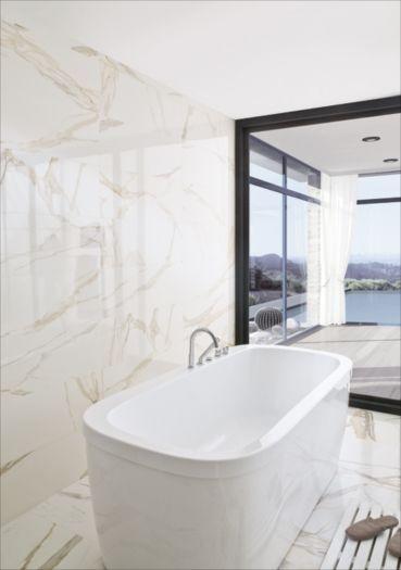 Porcelanosa usa calacatta gold brillo porcelain tile c - Salle de bains porcelanosa ...