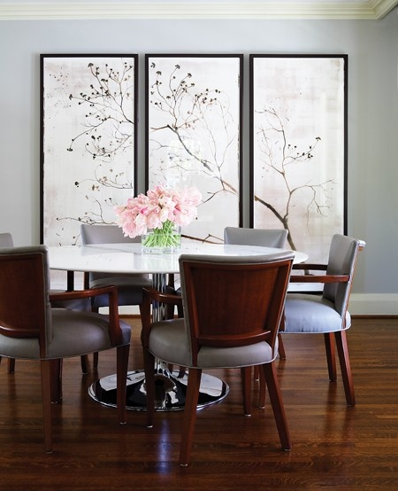I love the wall and decorations!: Wall Art, Dining Rooms, Dining Area, Wall Decor, Blank Wall, Dreamy Dining, Beautiful Screens, Classic Dining, Photo Galleries