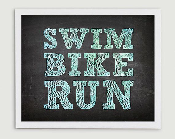 Swim Bike Run Triathlon Finisher Gift  by StephLawsonDesign, $10.00