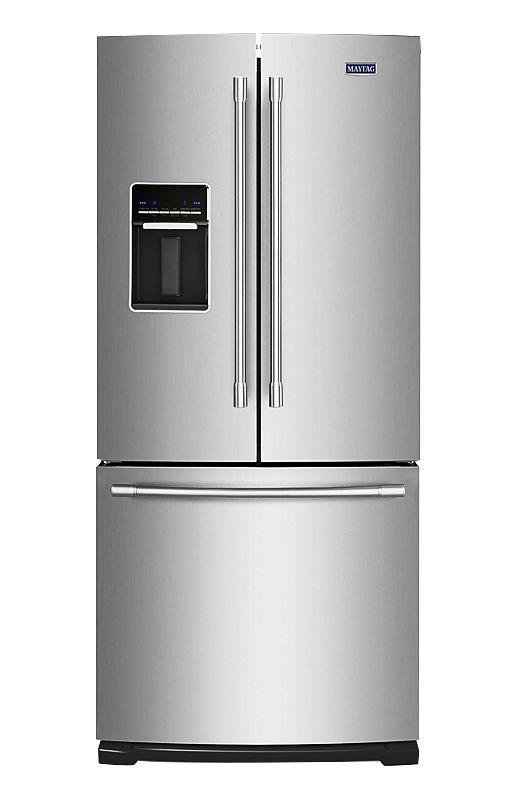 Image pour Réfrigérateur à portes françaises de 19,6pi³ avec distributeur d'eau et glaçons - Maytag MFW2055FRZ                        à partir de EconoMax