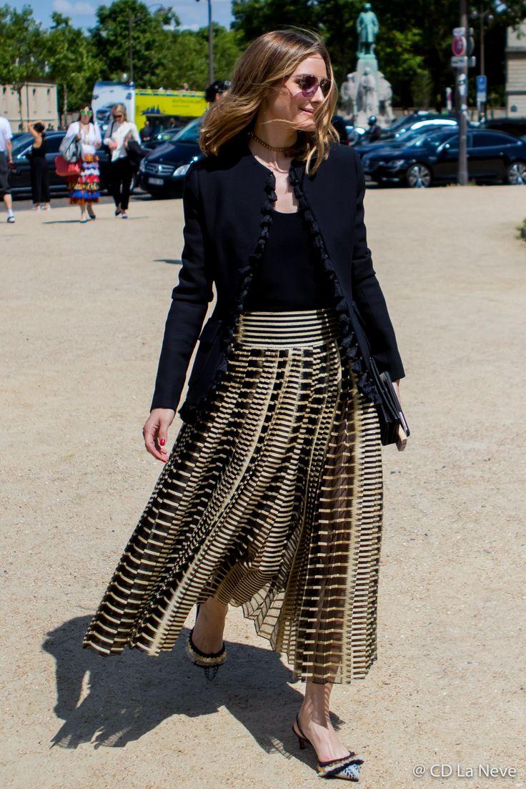 Olivia Palermo Paris Fashion Week Dior Haute Couture Street Style FW17