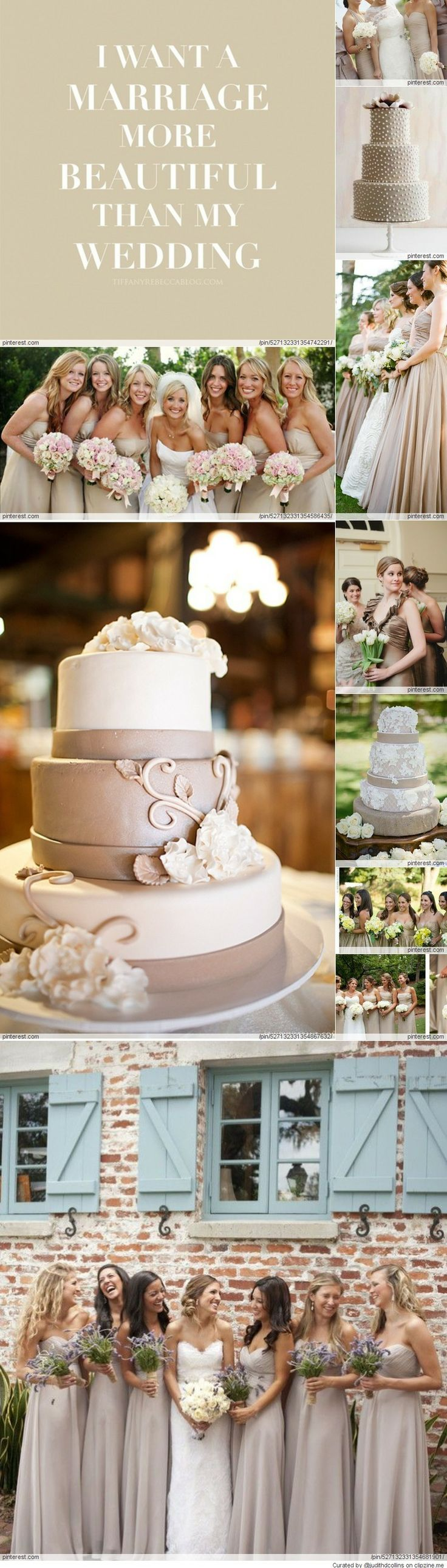 Taupe Weddings - Not loving the top ones but the bottom picture is beautiful.