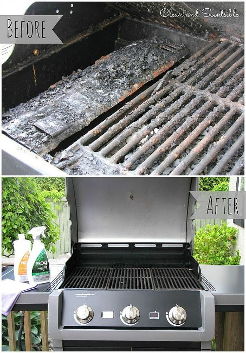 How to Clean a BBQ - Clean and easy.  But you may want to use Murphy Oil... wood cleaner to cut some of the grease if you have build up.
