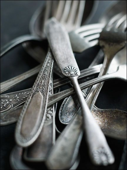 old silverware is just one of my many collections/obsesssions. <3  acottageinthewoods:    source: Alexandra Grablewski Photography