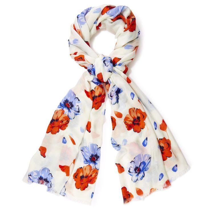 Laura Ashley Floral Poppy Pashminetta #FloralBurst