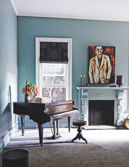 We love the soft blue of these walls; it feels elegant and contemporary. Image: Livingetc