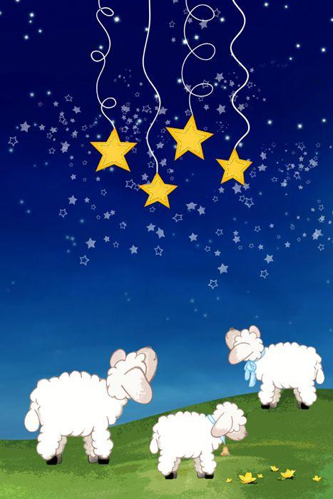 Gute-Nacht-Schafe