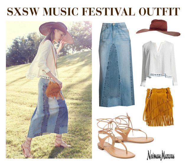 """SXSW Music Festival"" by neimanmarcus ❤ liked on Polyvore featuring 10 Crosby Derek Lam, Elizabeth and James, Current/Elliott, MICHAEL Michael Kors, Gladys Tamez Millinery and Neiman Marcus"