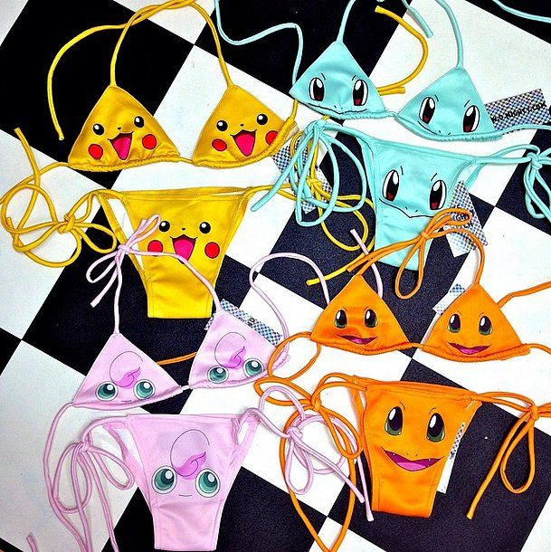 There's a Pokemon bathing suit here to fit every geeky girl's tastes.