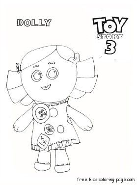 printable toy story 3 dolly coloring pages for kids  coloring pages free kids coloring pages