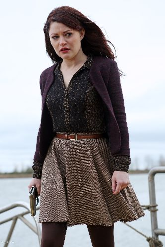Cute librarianlook by Belle @ Once upon a time