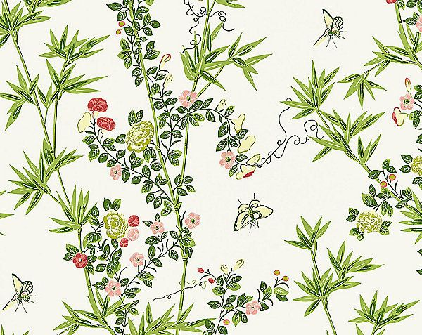 Scalamandre Wallpaper Jardin De Chine Spring Wp88375 001 With