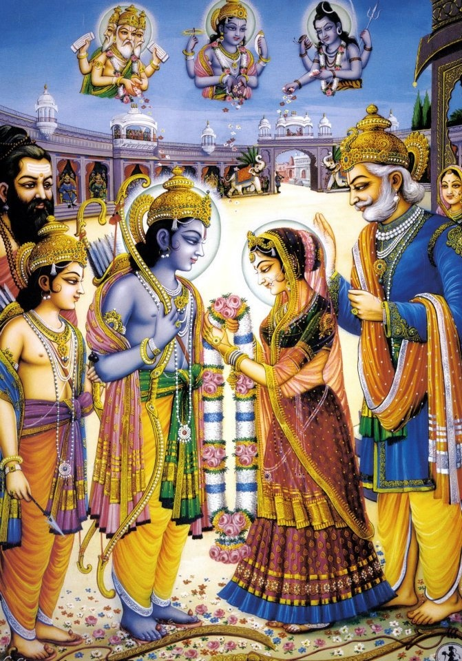 Sitamata marrying Shri Ram. What a Beautiful Eternal Moment!