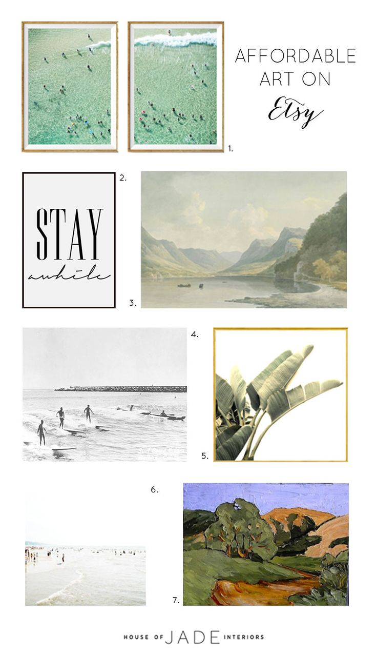 How To Find Affordable Art on Etsy + Our Favorites - House of Jade Interiors Blog