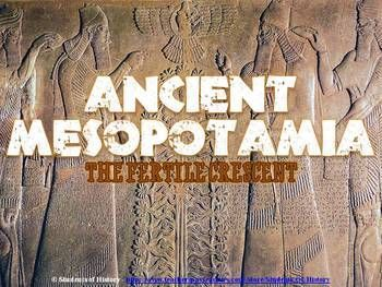 Great Mesopotamia lesson through a beautiful PowerPoint on the civilizations that arose in the Fertile Crescent and Mesopotamia from Ancient Sumer through the rise of the Persian Empire. Begins with the geography of the Fertile Crescent and what made the Tigris and Euphrates Rivers so important, then highlights the important contributions of the Sumerians, Assyrians, and Babylonians.